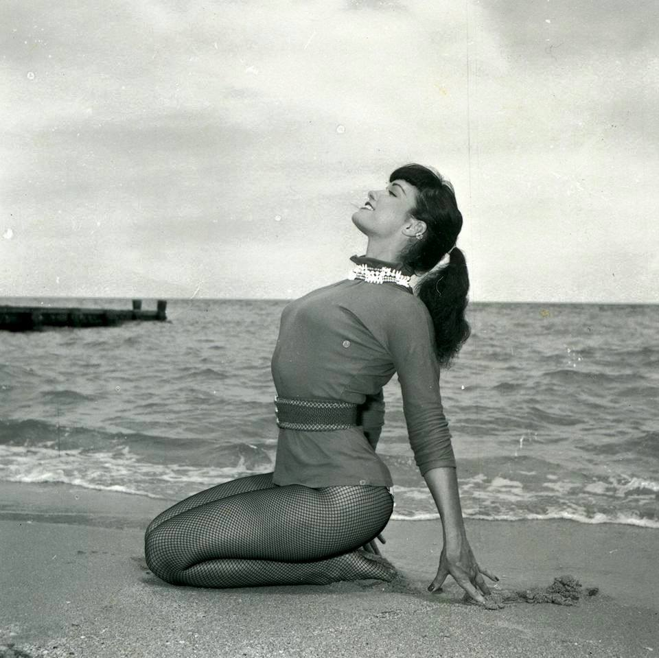 Betty page sea