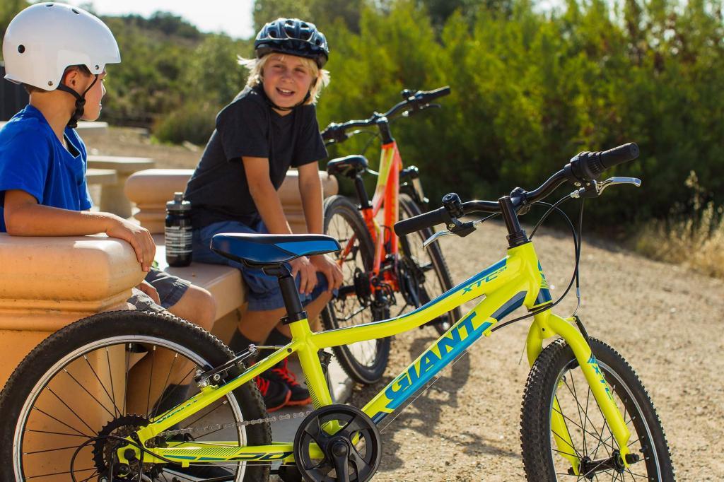 bambini da bicicletta giganti