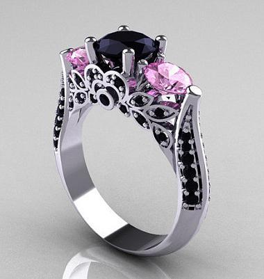 prstan iz črnega diamanta