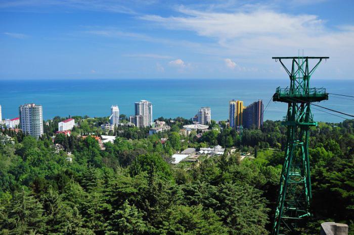 kurorty na wybrzeżu Morza Czarnego w Rosji
