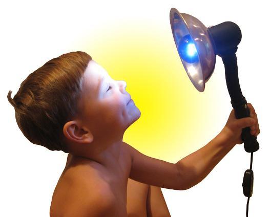 lampada di riscaldamento blu