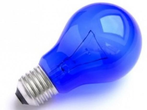 calda lampada blu