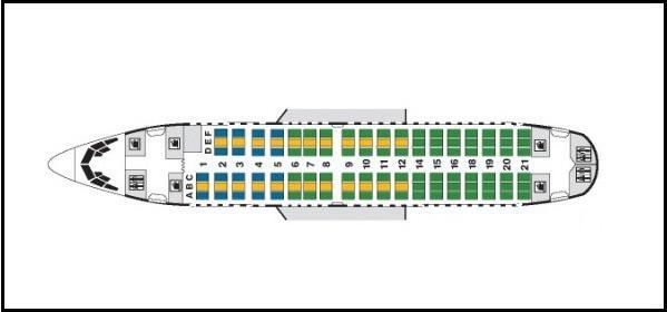 Боеинг 737 500 Трансаеро шема
