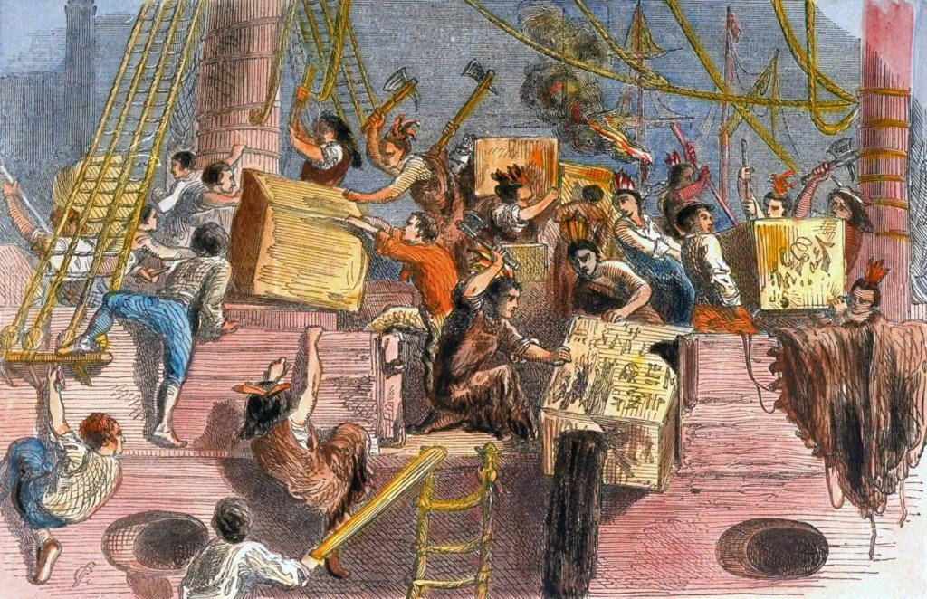 Изхвърляне на кутии за чай зад борда