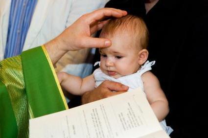 Ragazzo battesimo