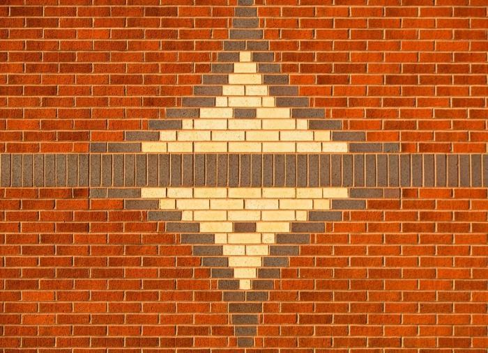 muro di mattoni all'interno