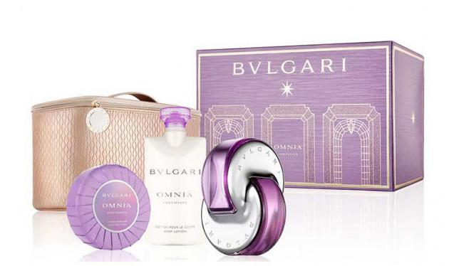 ametyst sbírka kosmetiky a parfémů z Bvlgari