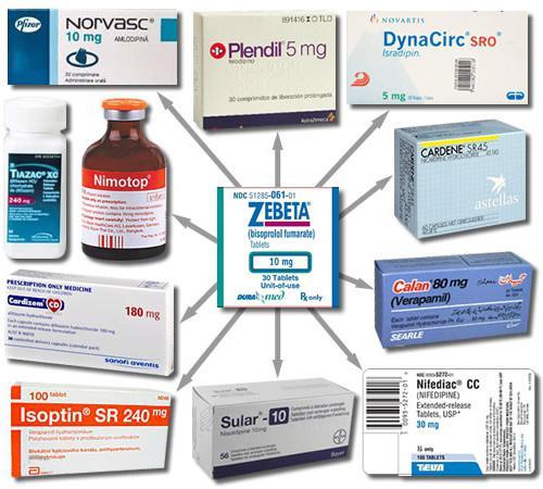 Блокатори на калциеви канали: лекарства