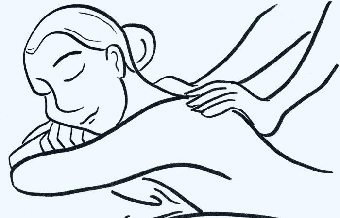 può massaggiare a casa