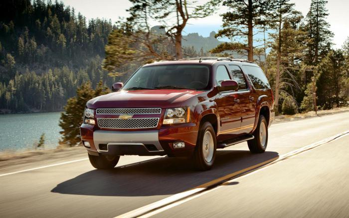 Specyfikacja podmiejskich samochodów Chevrolet