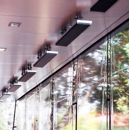 riscaldatori a soffitto a infrarossi con termostato
