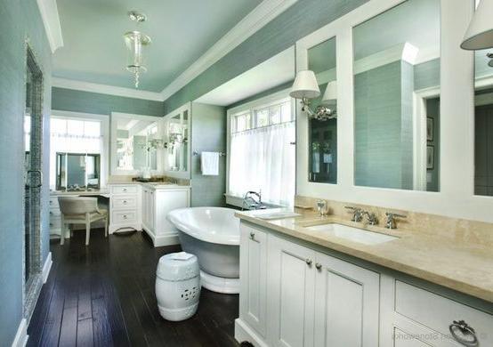 design del soffitto del bagno