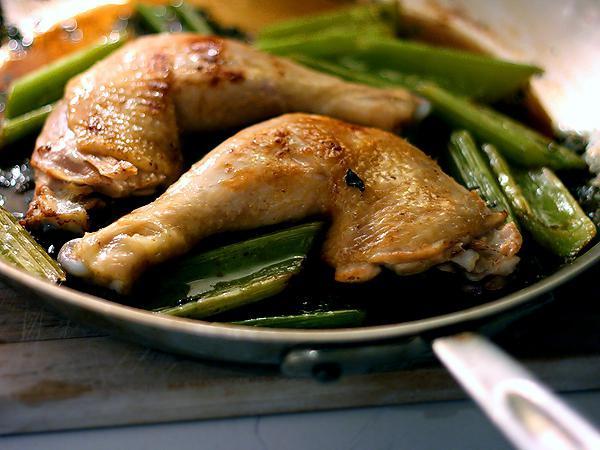 kuře s celerem