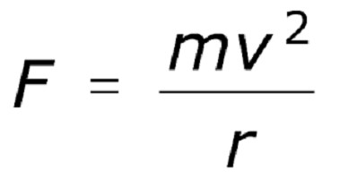 centripetalna pospeševalna formula