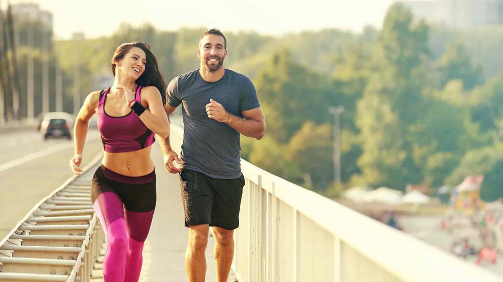 coppia da jogging