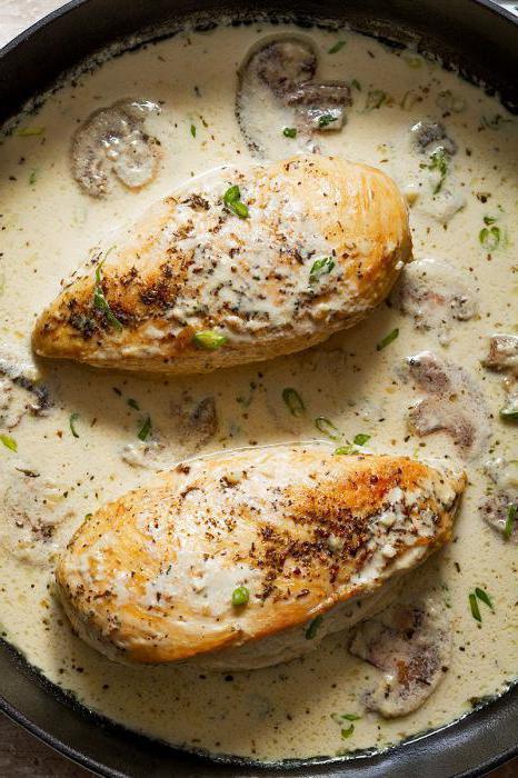 пилећа прса у крем сосу у лаганом шпорету