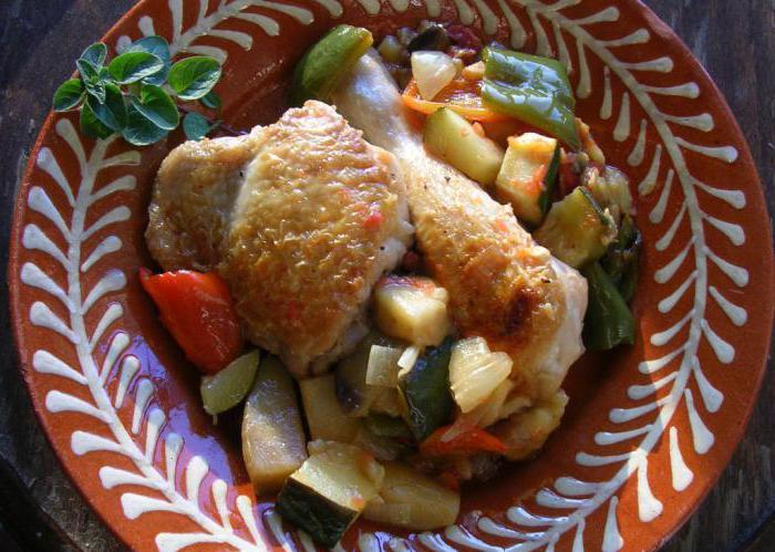 пиле в буркан със зеленчуци в собствената си рецепта за сок