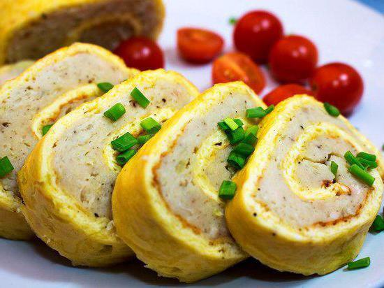 przepis na omlet z kurczaka