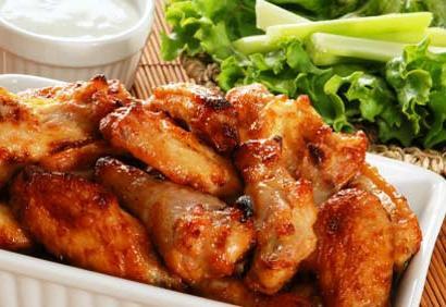 smažené křídla recept