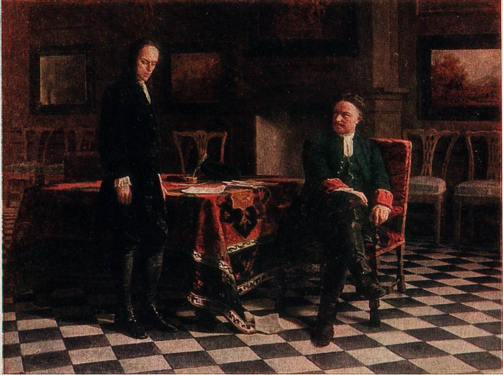Petar 1 i Tsesarevich Alexey
