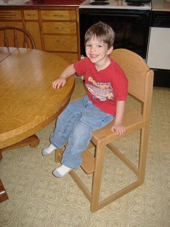 детски стол размери на схемата за рисуване