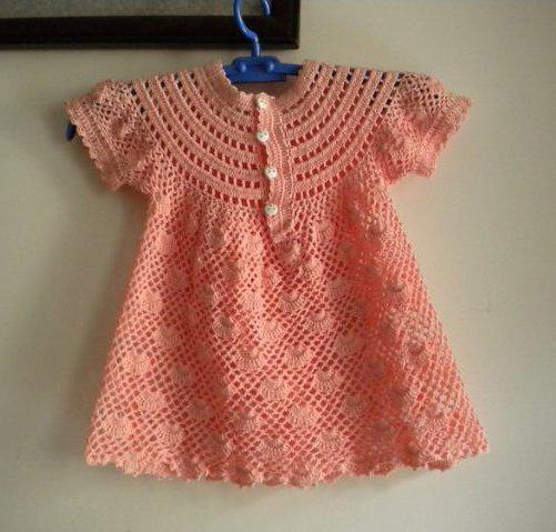 uncinetto a sprone per vestito da bambino