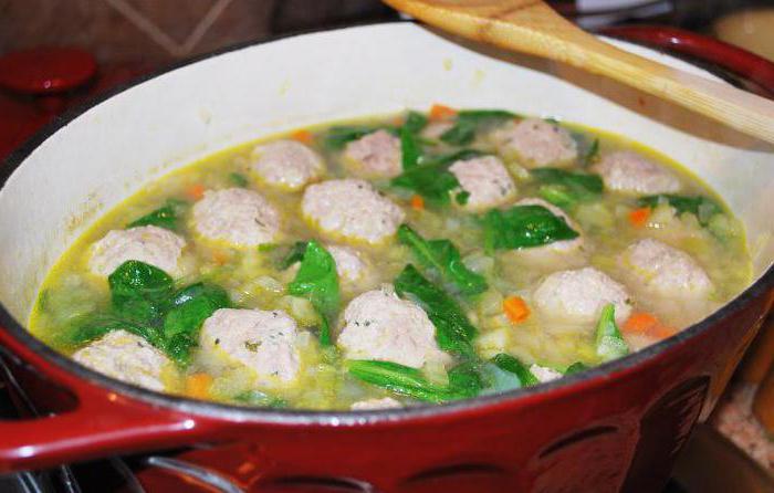 zuppa per bambini con polpette di carne