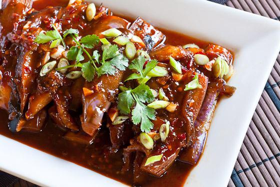 melanzane cinesi con carne
