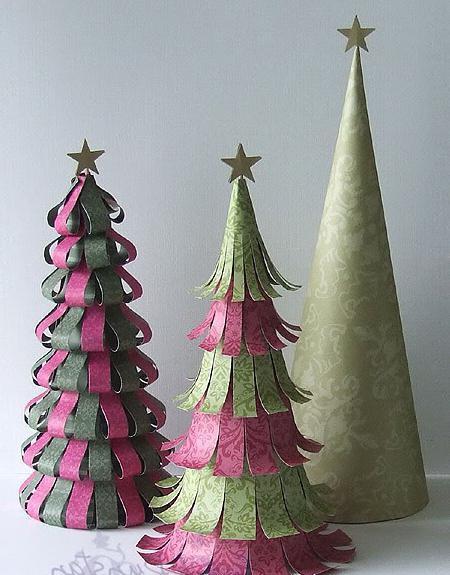 дърво от цветна хартия