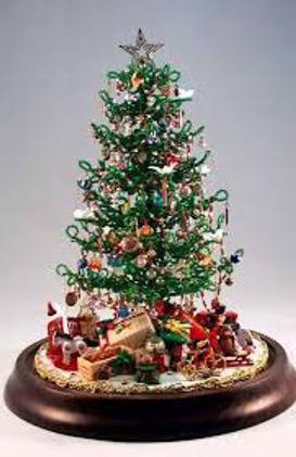 schema di perline di albero di Natale