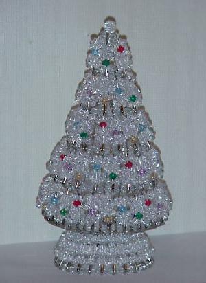 artigianato da perline albero di Natale