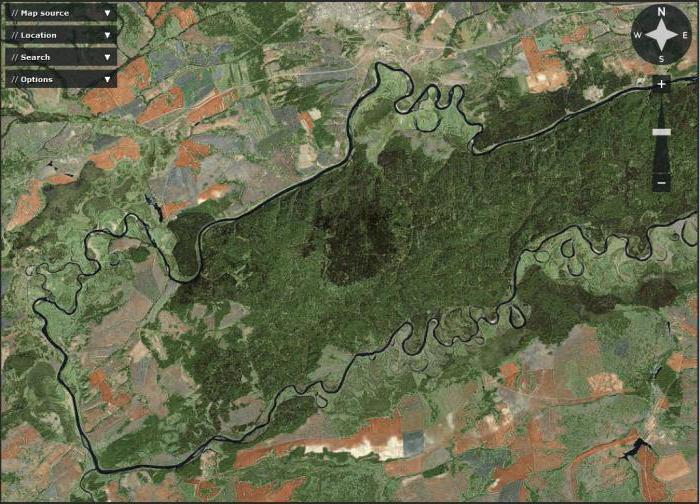 Geografski položaj rijeke Chulym