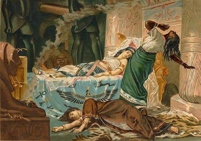 Kleopatra jako nerozdělená královna Egypta