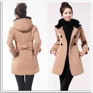 Зимно палто с кожена яка