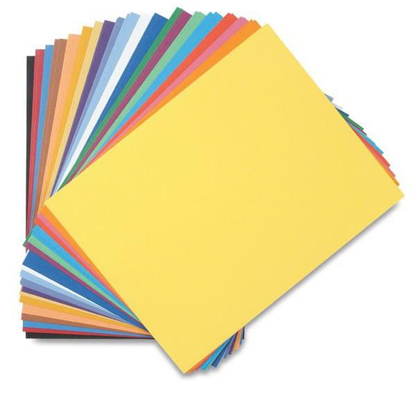 premazan barvni papir