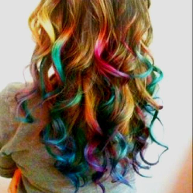 обојена боја косе
