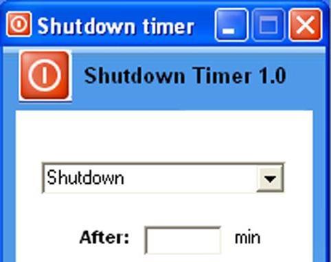 timer di spegnimento del computer