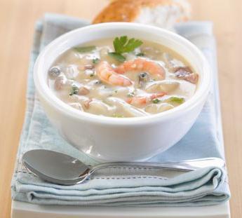 zuppa di pesce alla panna
