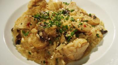 risotto con foto ricetta di pollo