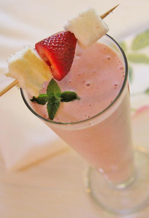 прясно млечен шейк от ягода