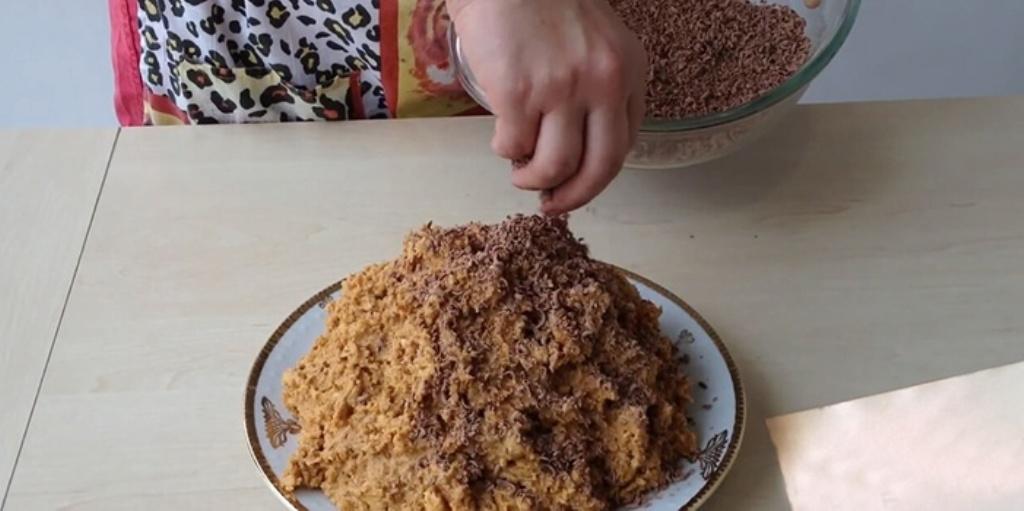 Torta di bastoncini di mais con latte condensato