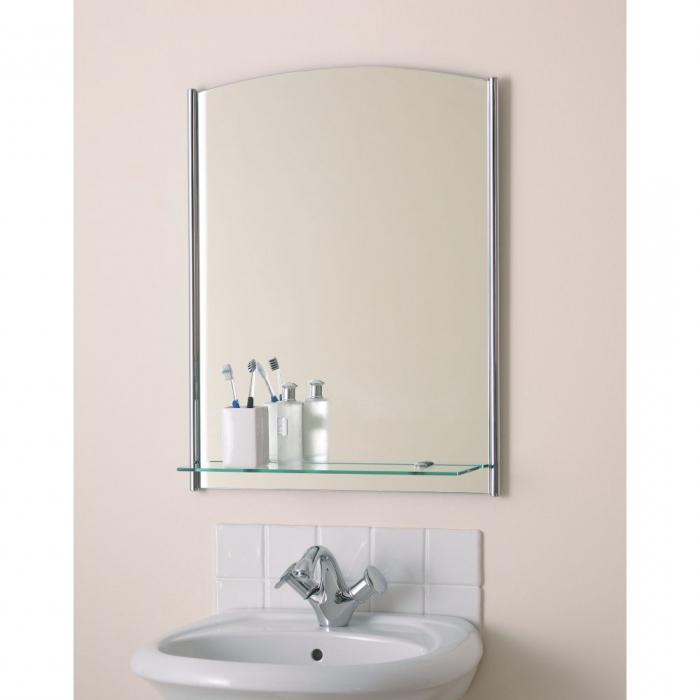огледало за баня с рафт
