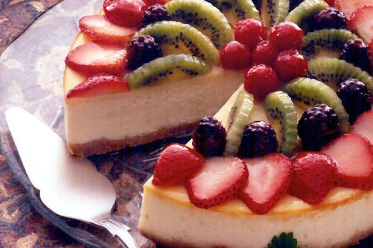 torta di ricotta con frutta