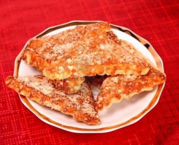 triangoli di biscotti di ricotta