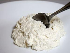 formaggio di ricotta a basso contenuto di grassi