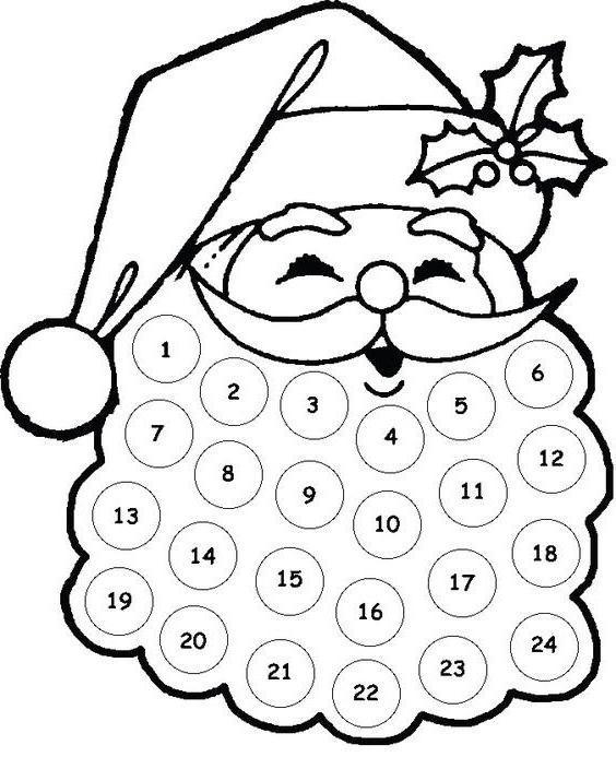 наношење памучних јастучића Санта Цлаус