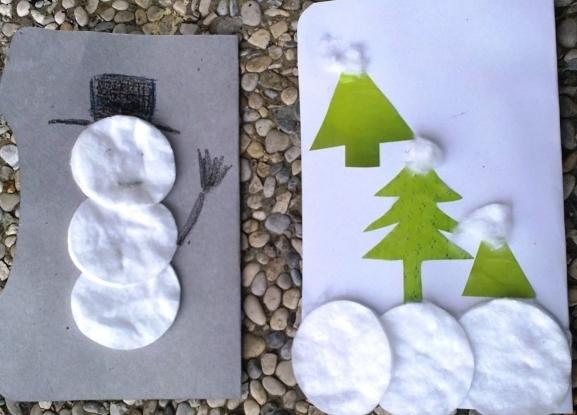 Božična obrt iz vlažnih diskov