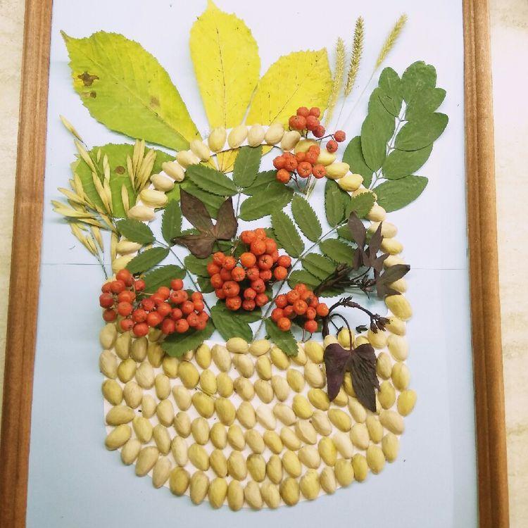 Кошница с есенния букет