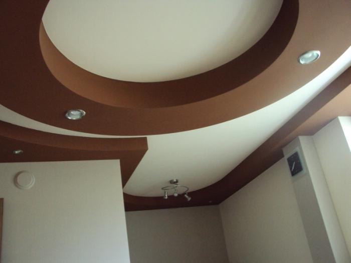 zakrzywione sufity z płyt gipsowo-kartonowych