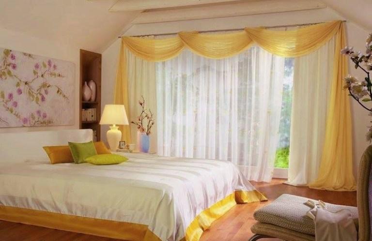 Бяла завеса в спалнята